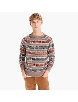 Lambswool Fair Isle Sweater In Orange by J.Crew