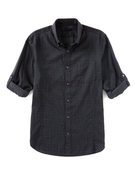 Star Usa Roll Sleeve Long Sleeve Woven Shirt by John Varvatos