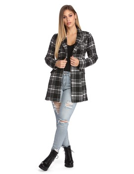 Poised In Plaid Coat by Windsor