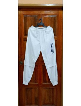 Rare!! Ellesse Sportivo Track Pants Nice Design Spellout White Colour Small Size by Etsy