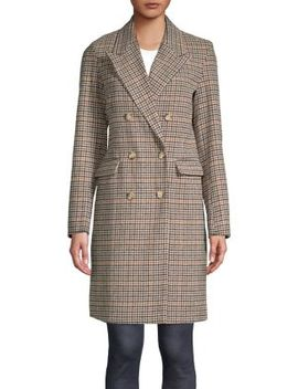 Houndstooth Double Breasted Coat by Vero Moda