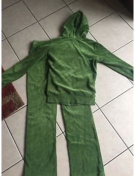 Juicy Couture Velour Tracksuit Jacket & Bottoms Green Size Small by Juicy Couture