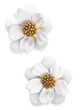 Gold Tone Flower Stud Earrings by Kate Spade New York