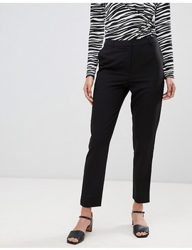 Warehouse Slim Leg Pants In Black by Warehouse
