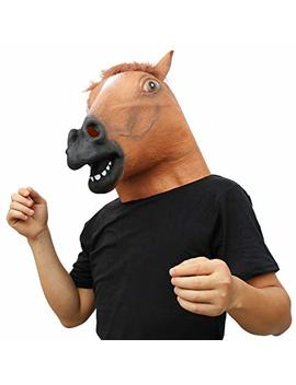 Creepy Party Novelty Halloween Costume Party Animal Head Mask Brown Horse (Silent) by Creepy Party