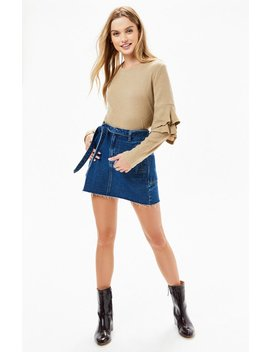 Lucca Couture Kennedy Double Ruffle Sweater by Pacsun