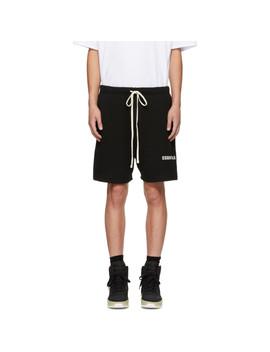 Black Logo Shorts by Essentials