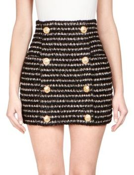 Tweed Mini Skirt by Balmain