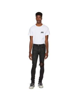 Black Glittered Broken Jeans by Amiri