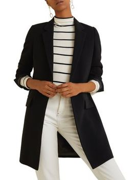 Grid Check Structured Jacket by Mango