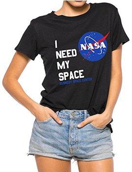 Nlife Women Fashion I Need My Space Shirt Nasa Shirt Women Nasa T Shirt Short Sleeve Tee by Nlife