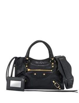 Classic Golden City Mini Aj Bag by Balenciaga