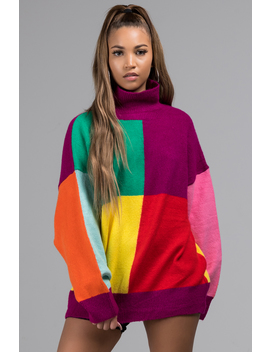 90 S Color Block Sweater by Akira