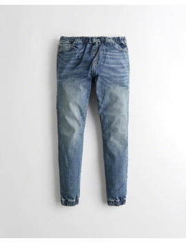 Advanced Stretch Denim Super Skinny Jogger Pants by Hollister