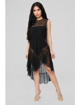 She's A Mesh Top   Black by Fashion Nova