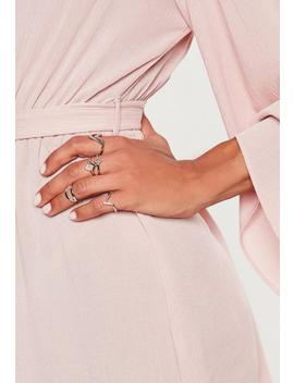 Silver Look Geo Ring Multipack by Missguided