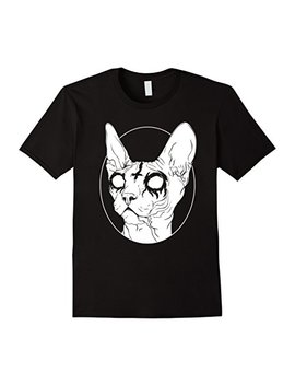 Black Metal Sphynx Cat I Goth And Death Metal T Shirt by Unknown