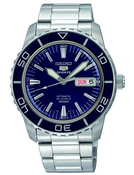 Seiko Men's 5' Japanese Automatic Stainless Steel Casual Watch, Color:Silver Toned (Model: Snzh53) by Seiko