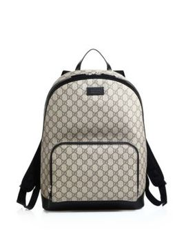 Gg Supreme Canvas Backpack by Gucci