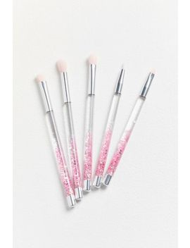 Skinnydip Pink Glitter Eye Kit You Not Brush Set by Skinnydip