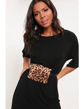 Brown Leopard Print Faux Fur Bag Belt by I Saw It First