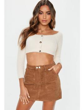 Tan Cord Mini Skirt by Missguided