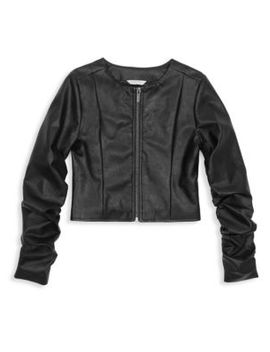 Girl's Emma Faux Leather Jacket by Habitual Girl