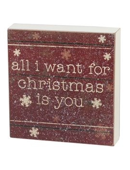 """All I Want For Christmas"" Box Sign Art by Kohl's"