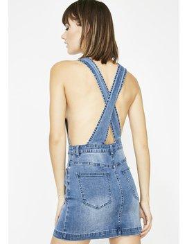 Drippin' Denim Overall Dress by Edgemine