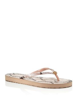 Women's Printed Thin Flip Flops by Tory Burch