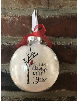 Cardinal Ornaments , Clear Plastic Disc Ornament , Christmas Ornament by Etsy