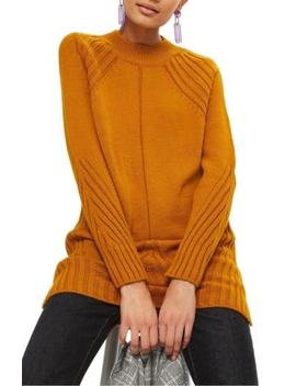 $150 Topshop Knit Detail Sweater Dress Size 2 Us / 6 Uk by Topshop