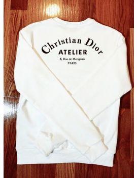 """Christian Dior Sweatshirt&Nbsp;""""Ch<Wbr>Ristian Dior Atelier"""" Print, White Cotton&Nbsp; by Dior"""