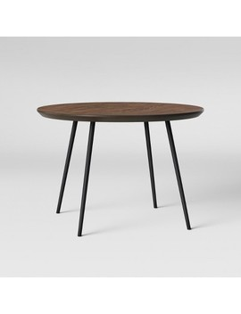 Copley Dining Table Wood Top With Metal Legs Walnut   Project 62™ by Shop This Collection