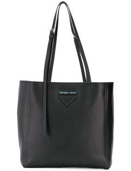 Logo Shopper Tote by Prada