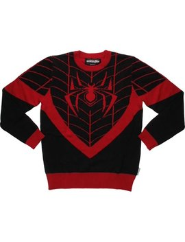 Spiderman Miles Morales Costume Mf Sweater by Spider Man