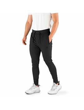 Contour Athletics Men's Joggers Elite (Hydra Fit) Track Pants Sports Workout Sweatpants With Zipper And Back Pockets by Contour Athletics