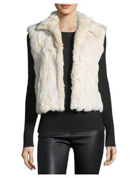 Snowtop Fur Vest by Adrienne Landau