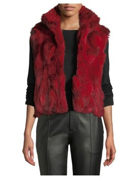 Rabbit Fur Vest, Red by Adrienne Landau