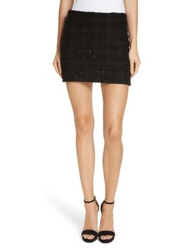 Elana Sequin Miniskirt by Alice + Olivia
