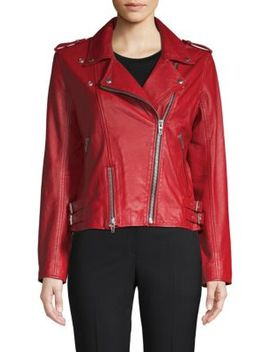 Old Flame Leather Moto Jacket by Blank Nyc