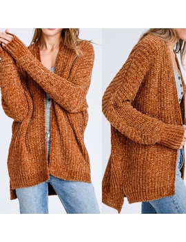 Chenille Soft Textured Long Cardigan   Boutique by Upstyleboutique