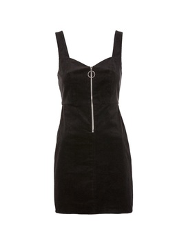 Topshop Black Corduroy Pinafore Dress 6254   Nwt by Topshop