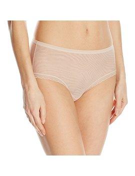 On Gossamer Women's Next To Nothing Mesh Medium Rise Modern Brief Panty by On Gossamer