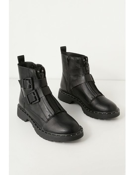 Joplin Black Belted Mid Calf Boots by Cl By Laundry