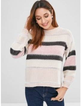 Color Block Shiny Sweater   Multi by Zaful