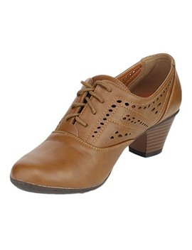 Refresh Women's London 01 Cutout Heeled Oxford by Refresh