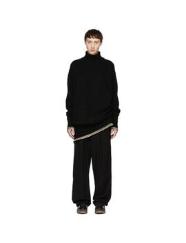 Black Cashmere Oversized Turtleneck by Maison Margiela