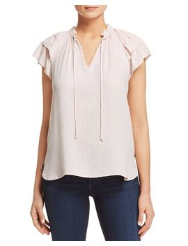 Tiered Ruffle Sleeve Top by Scotch &Amp; Soda