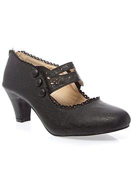 V Luxury Womens 36 Mina4 Closed Toe Mary Jane High Heel Shoes by V Luxury